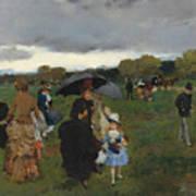 Storm On The Bois De Boulogne Poster
