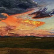 Storm Over Davis Mountains Poster