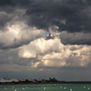 Storm Over Lake Michigan Poster