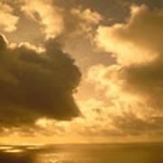 Storm Over Ocean Poster