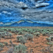 Storm Over Taos Mountain Poster