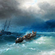 Storm Over The Black Sea Poster