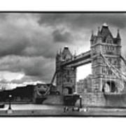 Storm Over Tower Bridge Poster