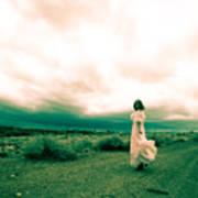 Storm Walk - Split Tone Poster