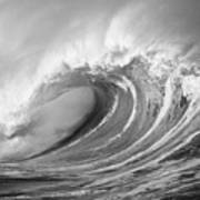 Storm Wave - Bw Poster