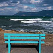 Stormy Aegean Sea Poster