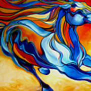 Stormy An Equine Abstract Southwest Poster