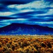 Stormy Day In Taos Poster