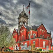 Stormy Day Jones County Georgia Court House Art Poster