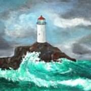 Stormy Ligthouse Poster