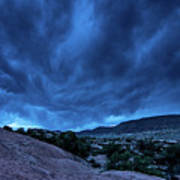 Stormy Night Sky Arches National Park - Utah Poster
