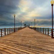 Stormy Oceanside Sunset Poster