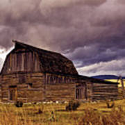 Stormy Sunset At Moulton Barn Poster
