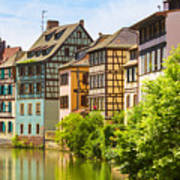 Strasbourg, Half-tmbered Houses, Petite France, Alsace, France  Poster