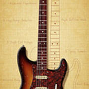 Stratocaster Illustration Poster
