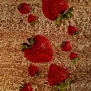 Strawberries And Stone Slab  Poster