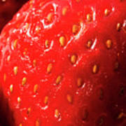 Strawberry Abstract Poster