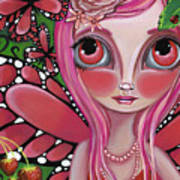 Strawberry Butterfly Fairy Poster