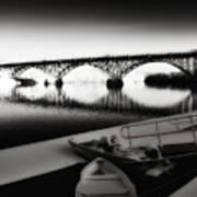 Strawberry Mansion Bridge In Winter Poster