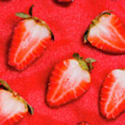Strawberry Slice Food Still Life Poster