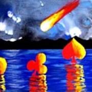 Streaking Comet Poker Art Poster