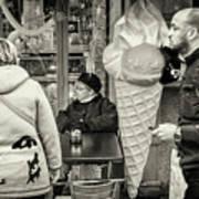 Street Ice Cream Poster