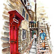 Street In Robin Hoods Bay 01 Poster
