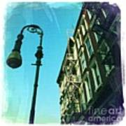 Street Lamp And Fire Escape Poster
