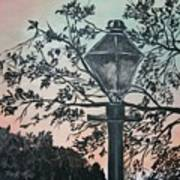 Street Lamp Historic Vintage Art Print Poster