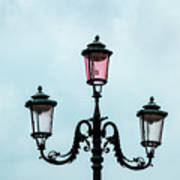Street Lamp Of Venice Poster