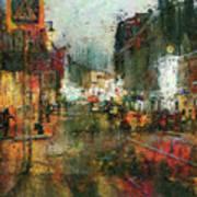 Street Night Light Poster