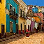 Street Of Color Guanajuato 4 Poster