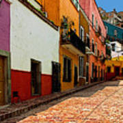 Street Of Color Guanajuato 5 Poster