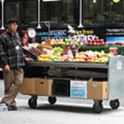 Street Orchard -- Street Vendor In New York City, New York Poster