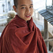 Street Portrait Of A Young Monk Poster
