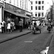 Street Riding In Amsterdam Mono Poster