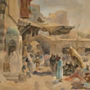 Street Scene In Jaffa Poster
