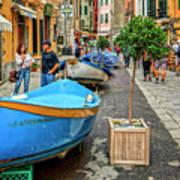 Street Scene Manarola Italy Dsc02634 Poster