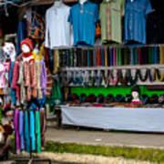 Street Shops At Ataco Poster