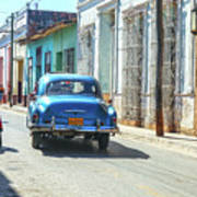 Streetlife With Car In Trinidad, Cuba Poster