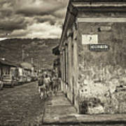 Streets Of Antigua - Guatemala Poster