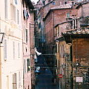 Streets Of Siena Photograph Poster
