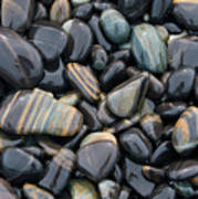 Striped Pebbles Poster