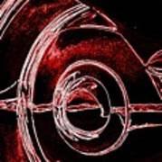 Studebaker Neon Red Poster