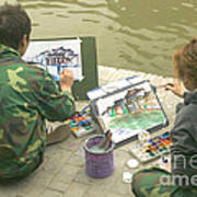 Students Painting, China Poster