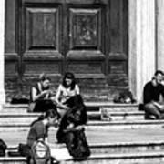 Study Break In Rome Poster