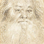 Study Of A Bearded Man [verso] Poster