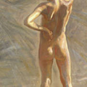Study Of A Nude Boy Poster