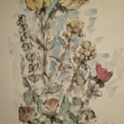 Study Of Flowers O Poster