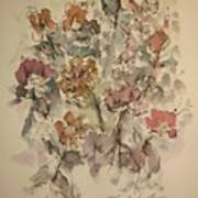 Study Of Flowers W Poster